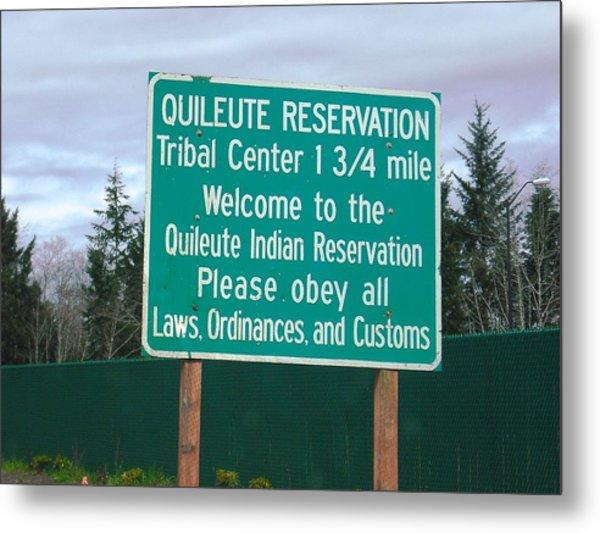 Quileute Reservation La Push Metal Print