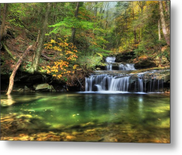 Quinn Run Cascades Metal Print
