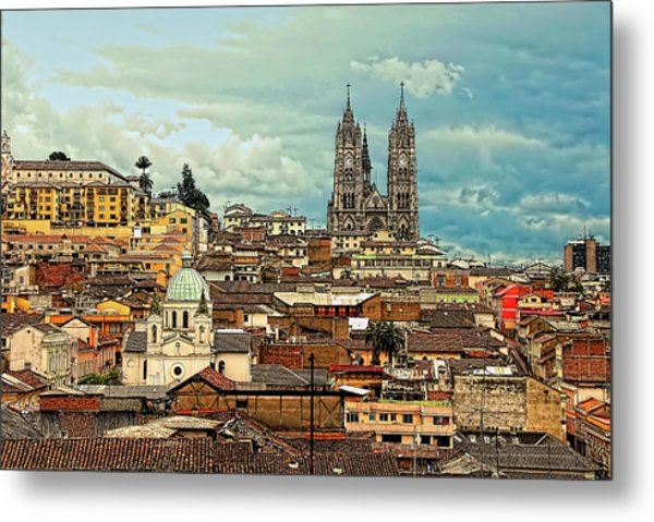 Quito Cathedral And Sorroundings Metal Print