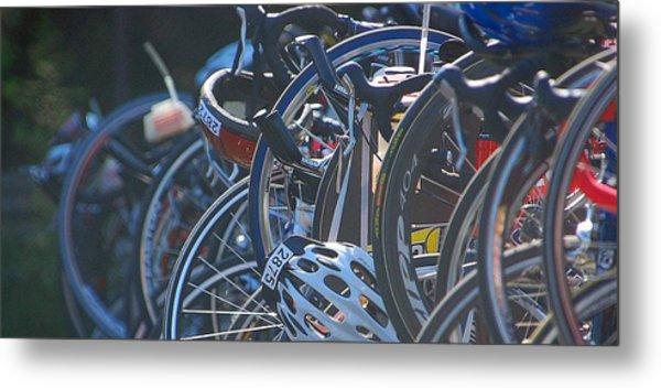 Racing Bikes Metal Print
