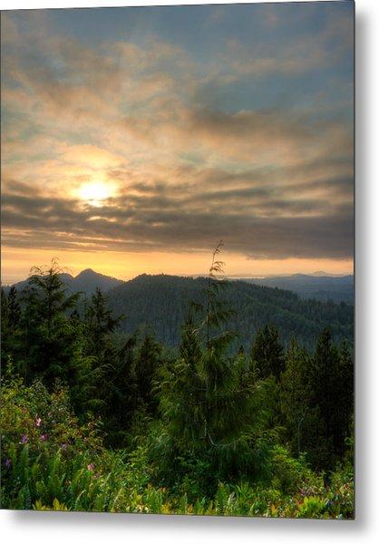 Radar Hill Sunset - Tofino Bc Canada Metal Print by Matt Dobson