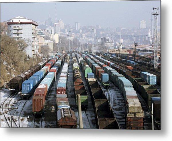 Railway Depot, Russia Metal Print