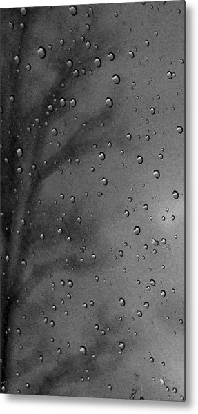 Rain Window Metal Print