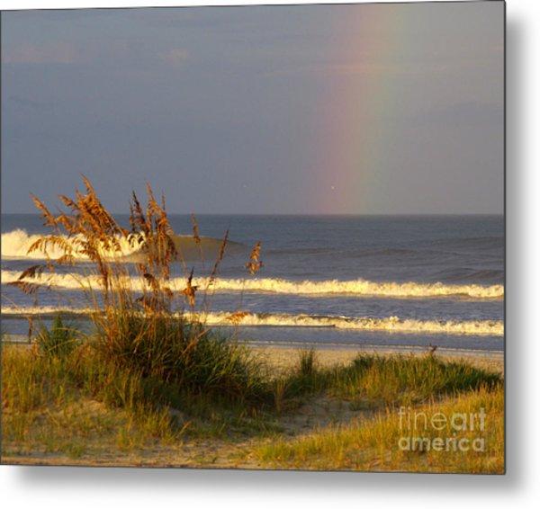 Rainbow - Saint Augustine Beach Metal Print by Jon Hartman