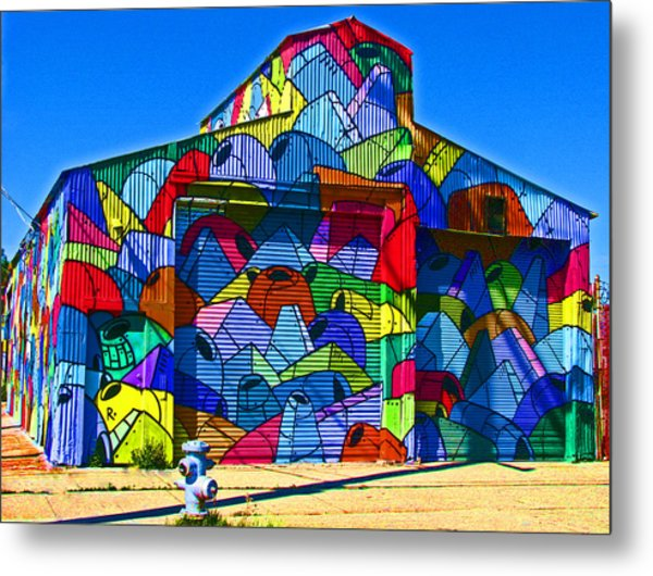 Rainbow Jug Building Metal Print