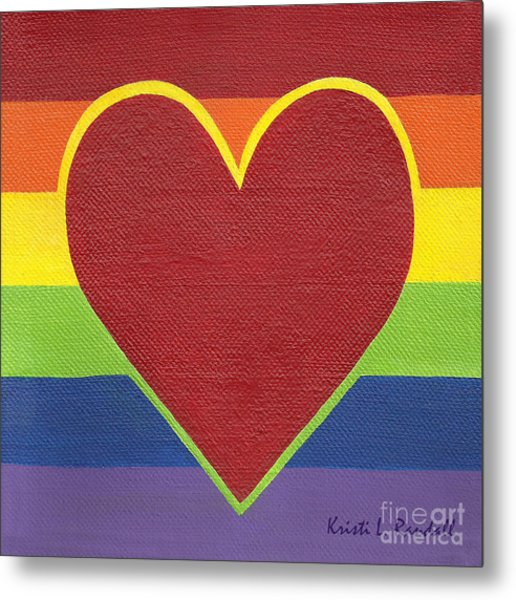 Rainbow Love Metal Print by Kristi L Randall