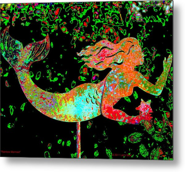 Rainbow Mermaid Metal Print