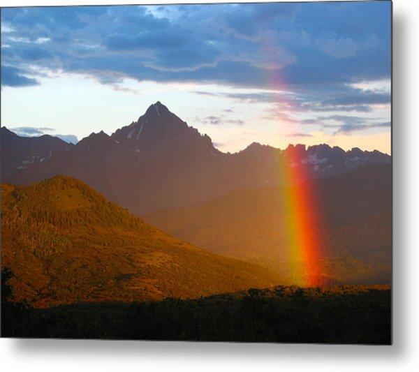 Rainbow Mountain Metal Print