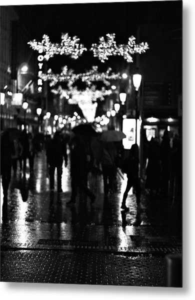 Raining In Dublin Metal Print by Patrick Horgan
