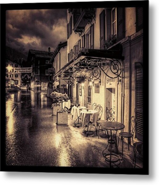 #rainy #cafe #classic #old #classy #ig Metal Print