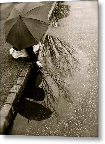 Rainy Day Solitude Metal Print by Susan Elise Shiebler