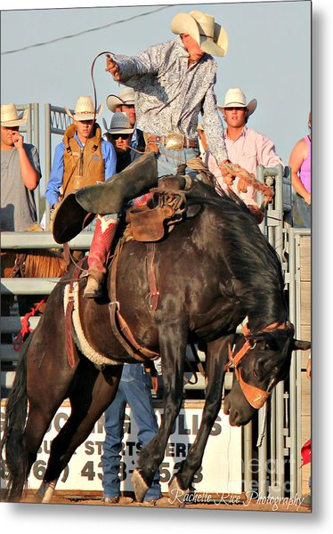 Ranch Bronc Rider Metal Print by Rachelle Rice