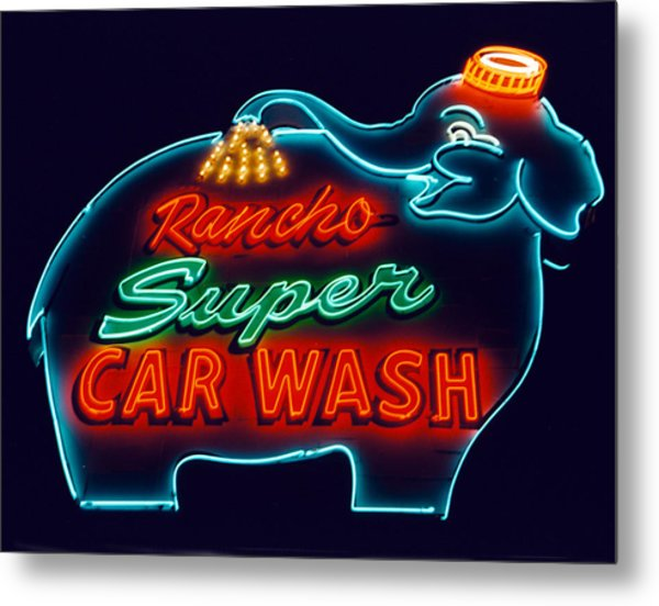 Rancho Car Wash Metal Print