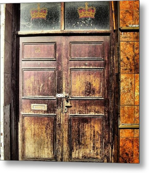 Random Door In Liverpool Streets Metal Print