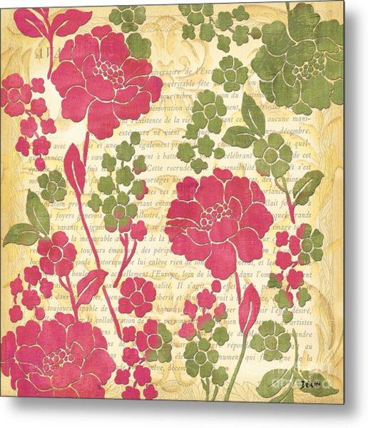 Raspberry Sorbet Floral 1 Metal Print