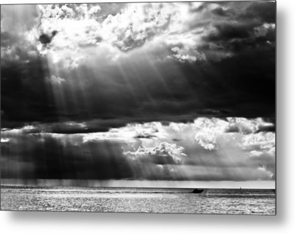 Rays Of Light Metal Print by Mike Rivera