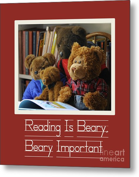 Reading Is Important Metal Print