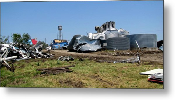 Reading Kansas Tornado Recovery  Metal Print