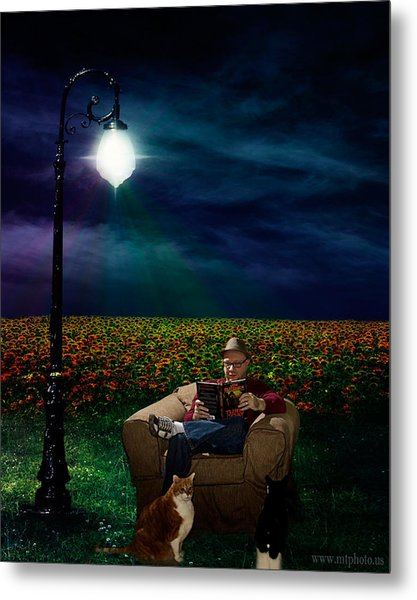 Reading Light Metal Print by Michael Taggart