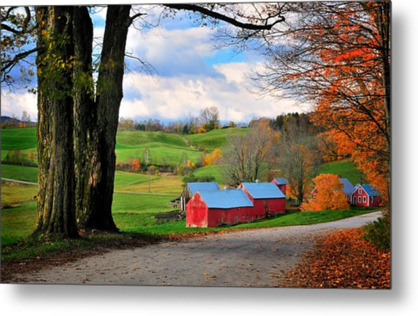 Reading Vermont - Jenne Road Metal Print