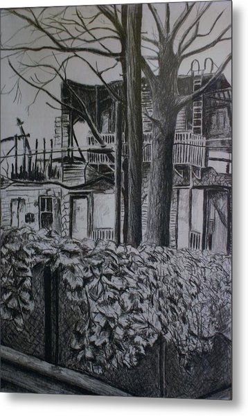 Rear View At Greene Ave. Brooklyn Metal Print by Victor SOTO