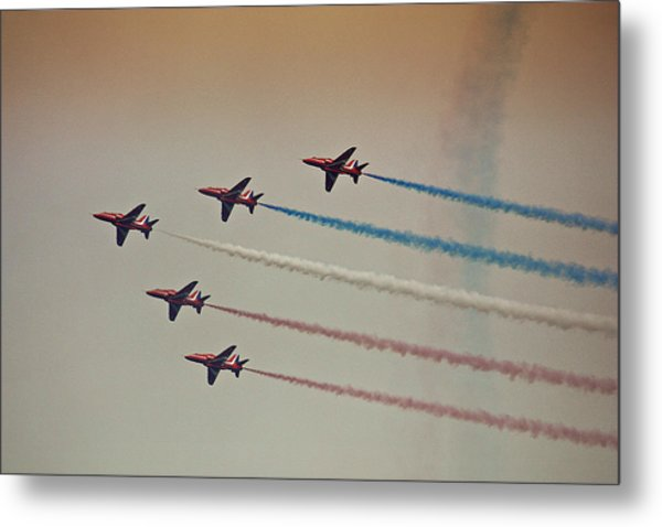 Red Arrows Metal Print by Graham Parry