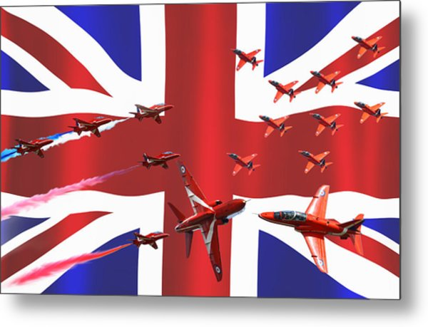 Red Arrows Union Jack Metal Print