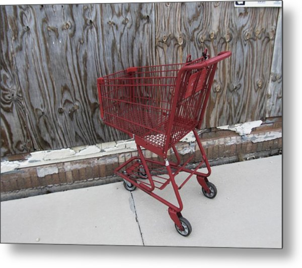 Red Cart 2 Metal Print by Todd Sherlock
