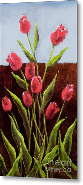 Red Delight-tulips Metal Print