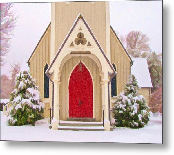Red Door Church Metal Print