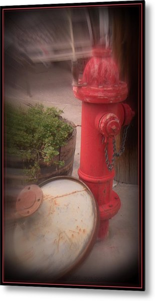 Red Faithful Hangin' At The Corner Metal Print