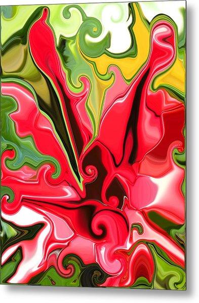 Red Fantasy Lily Metal Print