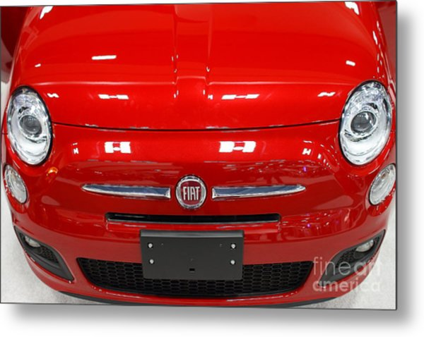 Red Fiat . 7d9371 Metal Print by Wingsdomain Art and Photography