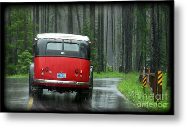 Red In The Rain Metal Print