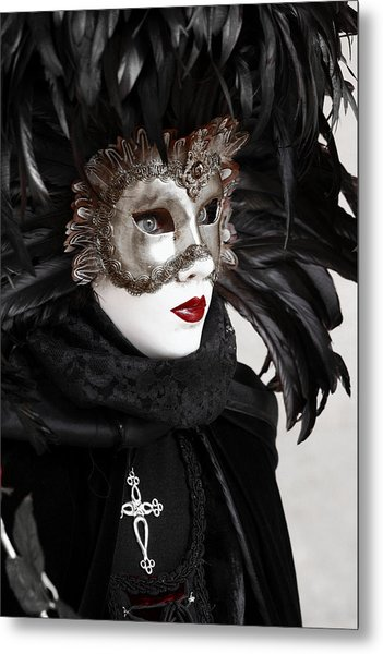 Red Lips Metal Print by Simona  Mereu