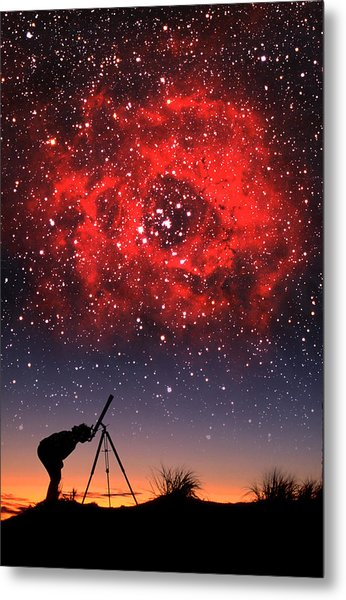 Red Nebula Metal Print
