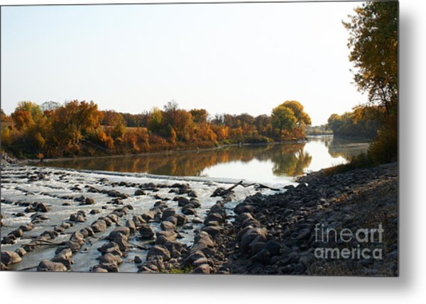 Red River Fall Of The Year Metal Print by Steve Augustin