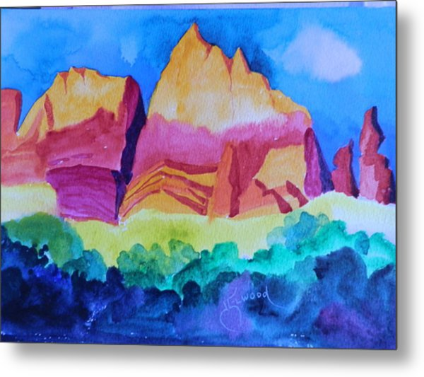 Red Rocks Of Sedona Metal Print