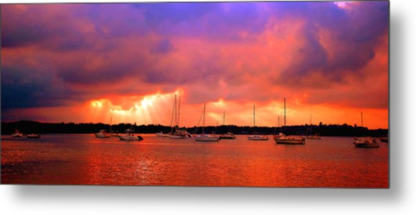 Red Sky At Night - Sailors Delight Metal Print