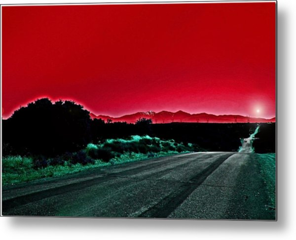 Red Sky At Night Metal Print by Chet King