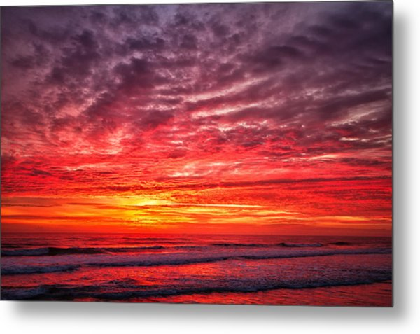 Red Sky In The Morning Metal Print by Steven Wilson