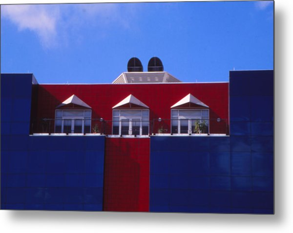 Red White And Blue Metal Print by Bob Whitt