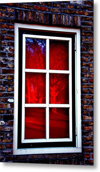 Red Window Holland Metal Print