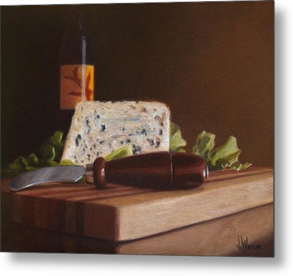 Red Wine And Bleu Cheese Metal Print