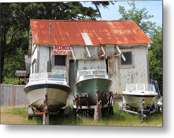 Redneck Yacht Club Metal Print by Michael Wolfe