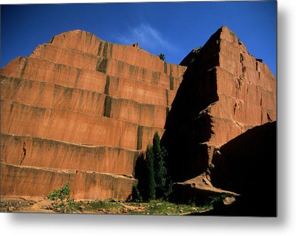 Redrocks Stone Quarry Metal Print