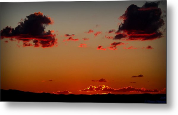 Reds Of An Autumn Sky Metal Print by Aaron Burrows