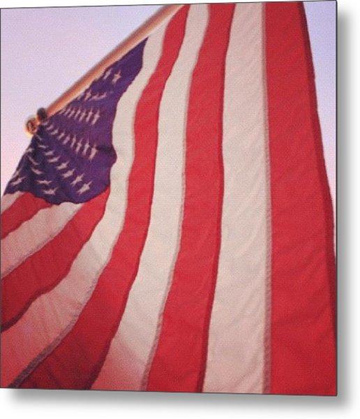 #redwhiteandblue #badass #usa #flag Metal Print