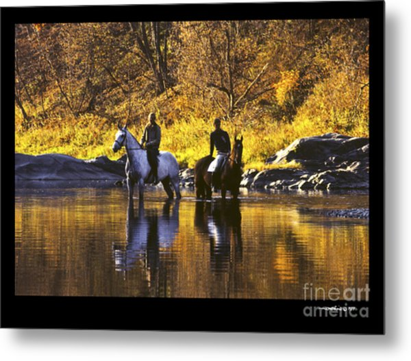 Reflecting On The Ride Metal Print