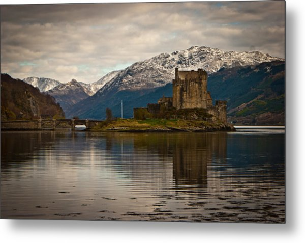 Reflection At Eilean Donan Metal Print